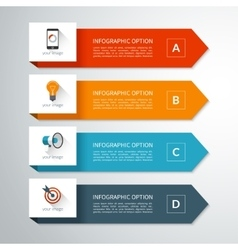 Modern minimal arrow elements for infographics vector image vector image