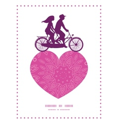 pink abstract flowers texture couple on tandem vector image