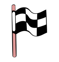 racing checkered flag icon icon cartoon vector image