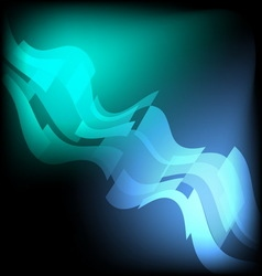 Rectangle blue wave glow in the dark abstract vector image