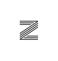 z letter alphabet business sport vector image vector image