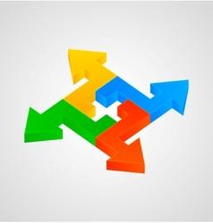 3d arrows figure vector image vector image