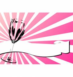glass and banner over pink vector image vector image