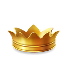 isolated gold crown vector image vector image