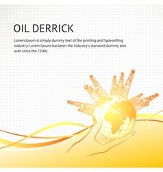 Oil derricks vector image vector image