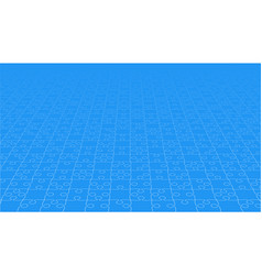 Perspective blue puzzles pieces - jigsaw vector