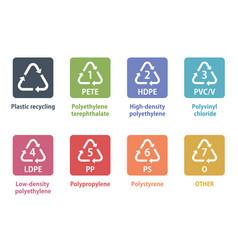 plastic recycling symbol vector image