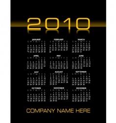 2010 calendar vector