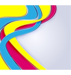 3d abstract multicolor vector image