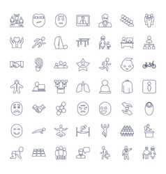 49 people icons vector