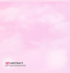 Abstract of realistic clouds pattern on pink sky vector
