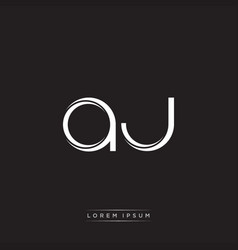 Aj initial letter split lowercase logo modern vector