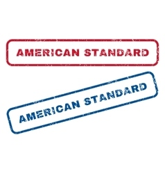 American standard rubber stamps vector