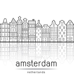 amsterdam vector image