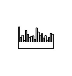 audio equalizer line icon technology pulse vector image
