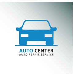 auto centre auto repair service car grey and vector image
