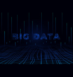 Big data perspective background design template vector