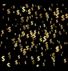 black background with dollar signs vector image
