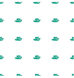 boat icon pattern seamless white background vector image