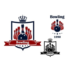 Bowling club emblem or symbol vector