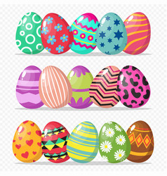 coloring easter eggs isolated vector image