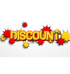 comic discount wording advertising concept vector image