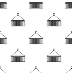 Container icon in black style isolated on white vector image