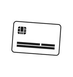 credit card plastic vector image