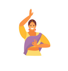 dancing indian girl vector image