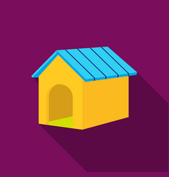 doghouse icon in flat style for web vector image
