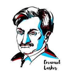 Emanuel lasker portrait vector