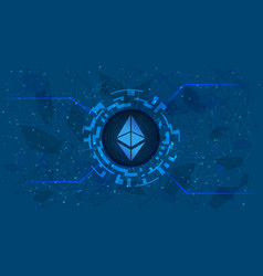 Ethereum eth token symbol eth coin icon in circle vector