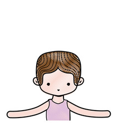 Grated boy dancing ballet with t-shirt and vector