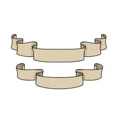 hand-drawn ribbons vector image