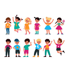 happy kids joyful preschool children in different vector image
