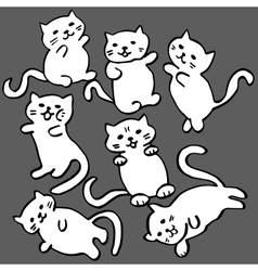 High quality of cat funny cat pattern vector image
