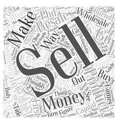 How to make money with resale rights Word Cloud vector image