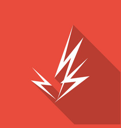 icon lightning arrow with a long shadow vector image