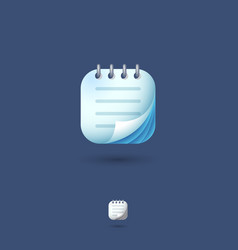 Icon notepad notebook organizer memo vector