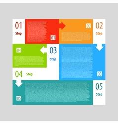 Infographics options banner steps set vector image