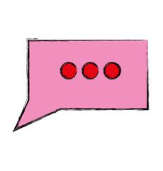 Isolated speech bubble vector