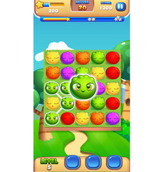 jelly game concept gameplay mobile game user vector image