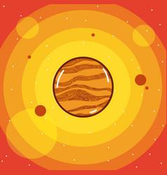 Jupiter milkyway planet vector