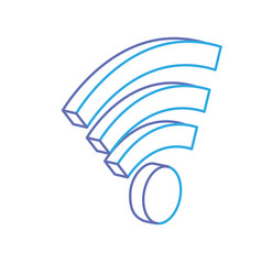 line wifi technology to connect in the digital vector image
