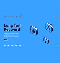 Long tail keyword banner with isometric icons vector