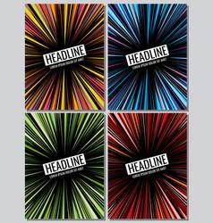manga speed lines grunge ray set layout vector image