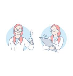 medical procedures and examination set concept vector image