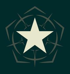 Military star army chevron rank insignia sign vector