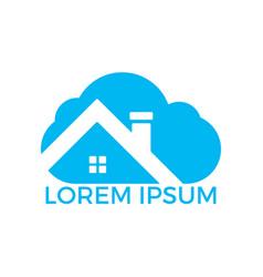 modern cloud home icon logo design vector image