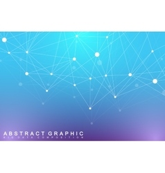 Modern Structure Molecule DNA Atom Molecule and vector image